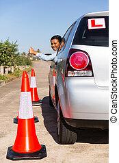 アフリカ, 学生, 運転手, 寄付, 「オーケー」
