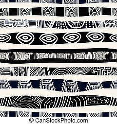 アフリカ, 民族, pattern., seamless