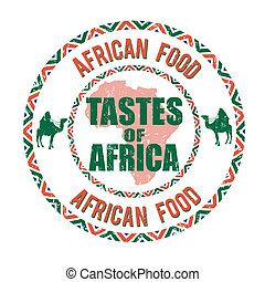 アフリカ, 食物, 好み, の, アフリカ, 切手
