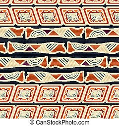 アフリカ, seamless, pattern., ベクトル