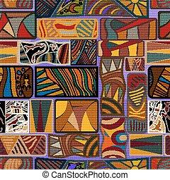 アフリカ, seamless, texture., ベクトル