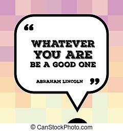 アブラハム・リンカーン, 引用