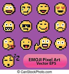 アプリケーション, emoticons, セット, emodzhi