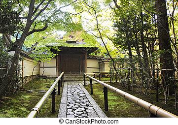 アプローチ, 道, へ, ∥, 寺院, koto-in, a, sub-temple, の, 大徳寺