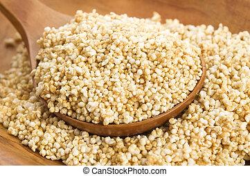 アマランサス, ぽんと鳴ること, 高く, グルテン自由, 穀粒, シリアル, タンパク質