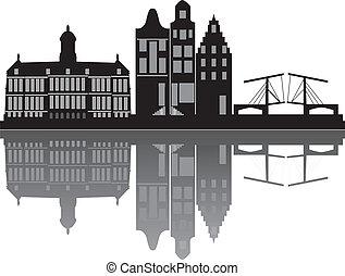 アムステルダム, スカイライン