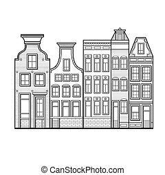 アムステルダム, スタイル, netherlands, 家