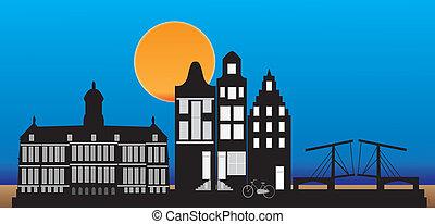 アムステルダム, 夕方