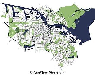 アムステルダム, netherlands, 都市 地図