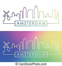 アムステルダム, skyline.