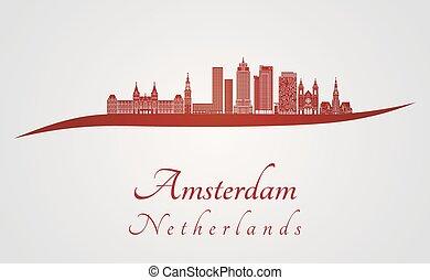 アムステルダム, v2, スカイライン, 赤