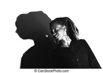 アメリカの女性, かなり, アフリカ