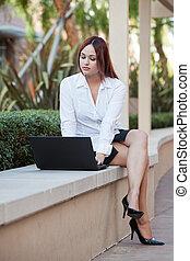 アメリカの女性, 若い, ビジネス, ネイティブ