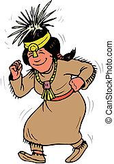 アメリカの女性, indian, ネイティブ