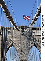 アメリカの旗, ブルックリン 橋
