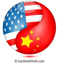 アメリカの旗, 中国語