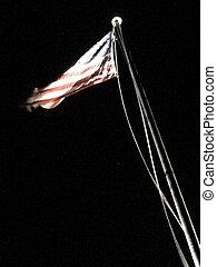 アメリカの旗, 背景, flagpole, 黒, 動き