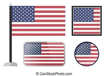 アメリカの旗, icons.