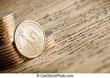 アメリカの ドル