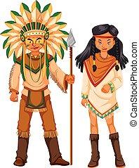 アメリカインディアン, ネイティブ, 2, 衣装