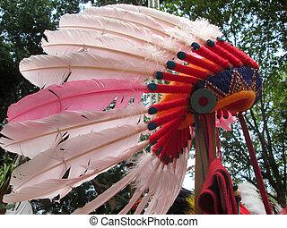 アメリカインディアン, 責任者, 頭飾り, ネイティブ