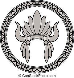 アメリカインディアン, 頭飾り, ネイティブ