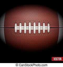 アメリカン・フットボール, 背景, vector., ball.