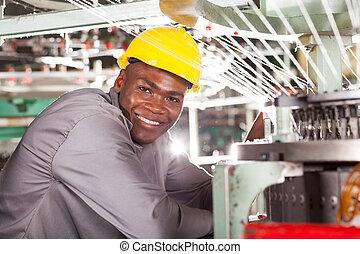 アメリカ人, アフリカ, 織物工場, 労働者