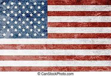 アメリカ人, グランジ, 旗