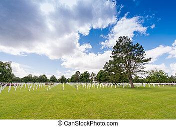 アメリカ人, ノルマンディー, 墓地, フランス