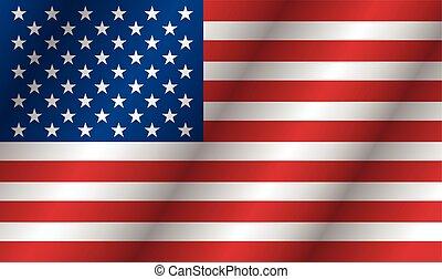 アメリカ人, ベクトル, 旗, 背景
