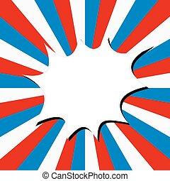 アメリカ人, ベクトル, 旗, illustration., banner.