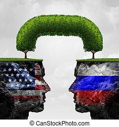 アメリカ人, ロシア人, 協力