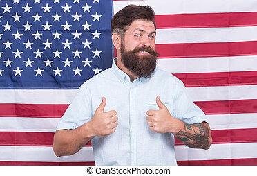 アメリカ人, 人, 出現, 概念, 旗, 井戸, 政府, 背景, 手入れをされる, 情報通, 仕事, 流行