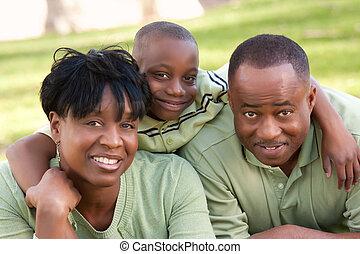 アメリカ人, 公園, 家族, アフリカ