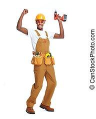 アメリカ人, 労働者, man., アフリカ