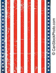 アメリカ人, 古い, 旗, 縦