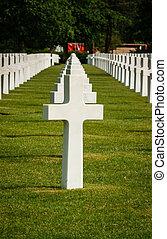 アメリカ人, 墓地, ノルマンディー, フランス