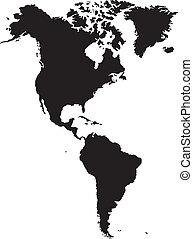 アメリカ人, 大陸