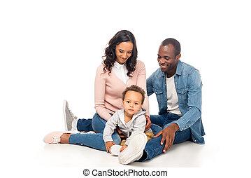 アメリカ人, 幸せな家族, アフリカ
