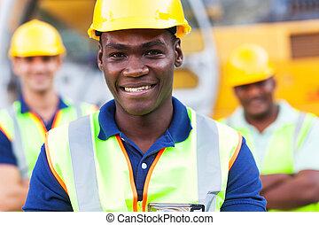 アメリカ人, 建築作業員, アフリカ