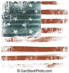 アメリカ人, 愛国心が強い, 背景, 隔離された, 白