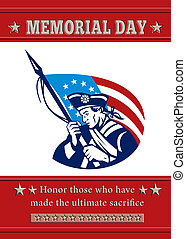 アメリカ人, 愛国者, 記念 日, ポスター, グリーティングカード