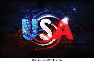 アメリカ人, 抽象的, 旗, 背景