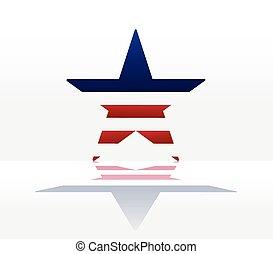 アメリカ人, 星, 抽象的, 背景