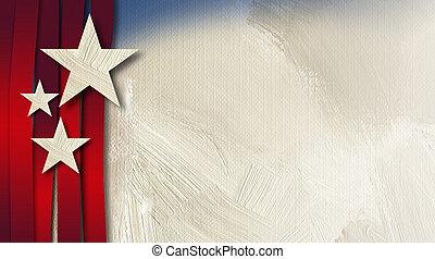 アメリカ人, 星, w, vert, ストライプ, 抽象的, 背景
