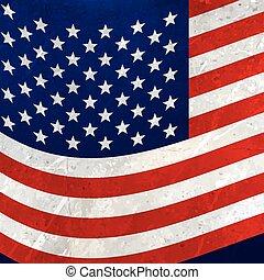 アメリカ人, 波状, 旗, 背景