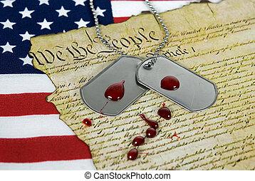 アメリカ人, 犠牲
