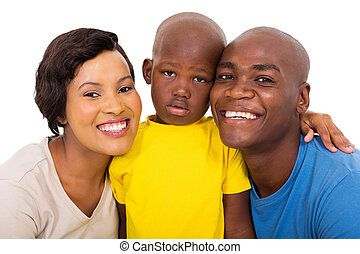 アメリカ人, 現代, 若い 家族, アフリカ