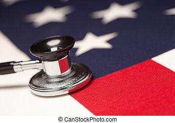 アメリカ人, 聴診器, 旗